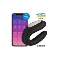 Вибратор для пар управляемый со смартфона Сатисфаер черный SATISFYER DOUBLE JOY