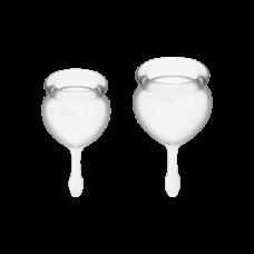 Менструальные чаши силиконовые Satisfyer Сатисфаер Feel Good прозрачные