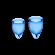 Менструальные чаши Satisfyer Сатисфаер Feel Confident DARK BLUE