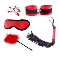 Набор для БДСМ игр цвет красный с черным Loveshop Delight Mini Set