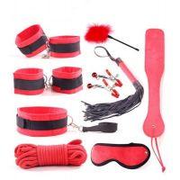 Набор для БДСМ игр цвет красный с черным Loveshop Maxi Set Spicy