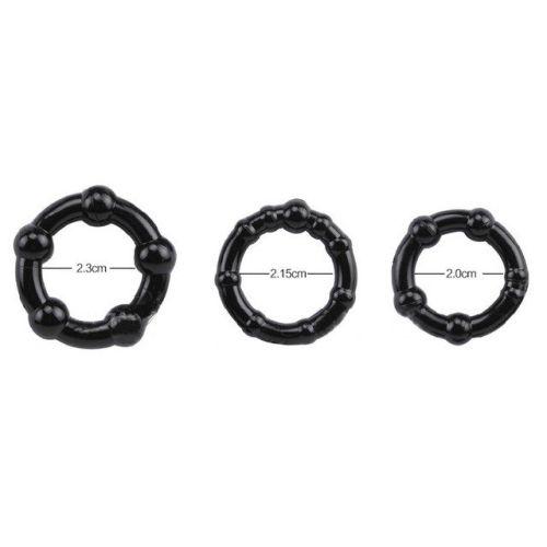 Набор эрекционных колец разного диаметра и структур STAY HARD 3 шт. TOY_4693