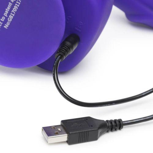 Бионик фаллоимитатор-страпон с вибрацией фиолетовый Uprize 15 см