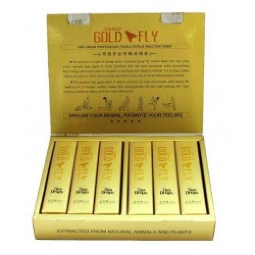 Возбуждающие капли для женщин Золотая Шпанская Мушка Gold Fly упаковка 12 шт