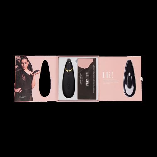 Бесконтактный вакуумный клиторальный стимулятор черный Womanizer (Вуманайзер) Premium