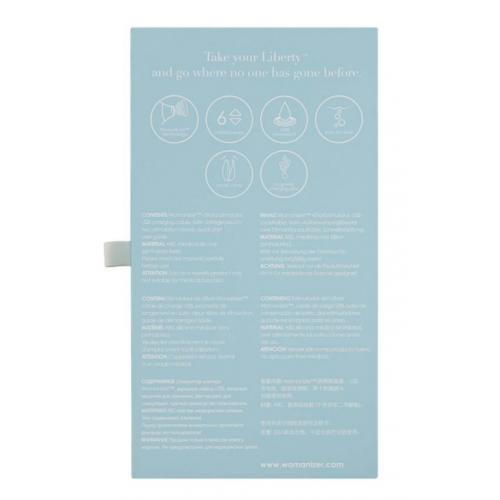 Бесконтактный вакуумный стимулятор для клитора голубой Womanizer (Вуманайзер) Liberty