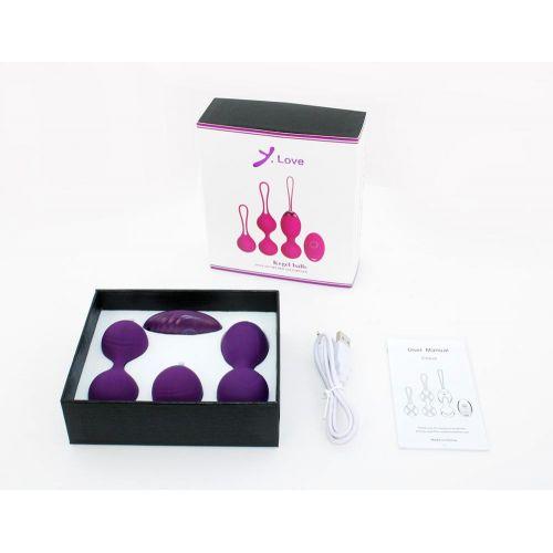Набор вагинальных шариков Y.Love фиолетовые